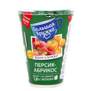 Йогурт персик-абрикос 1,8% ТМ Большая Кружка