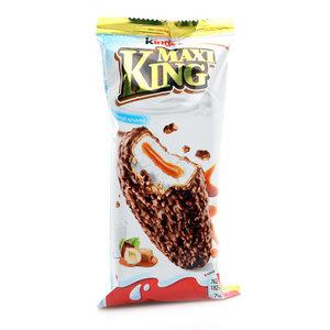 Пирожное покрытое молочным шоколадом и дроблеными лесными орехами с молочно-карамельной начинкой ТМ Kinder Maxi King (Киндер Макси Кинг)