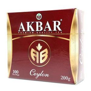 Чай черный Ceylon ТМ Akbar (Акбар), 100 пакетиков