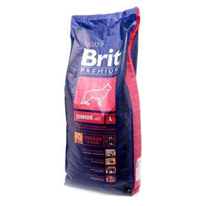 Корм для молодых собак крупных пород Premium (Премиум) курица и 5 трав ТМ Brit (Брайт)