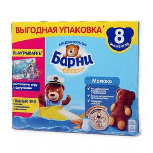 Пирожное бисквитное с молочной начинкой 30 г*8 шт ТМ Медвежонок Барни