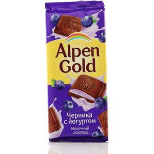 Шоколад молочный Черника с йогуртом TM Alpen Gold (Альпен Гольд)