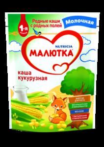 Молочная кашка кукурузная ТМ Малютка
