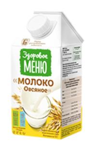 Напиток Молоко овсяное ТМ Здоровое меню