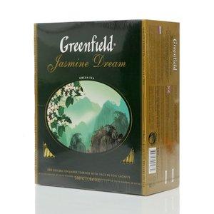 Чай зеленый  Jasmine Dream  (Жасмин Дрим) в пакетиках 100*2г ТМ Greenfield (Гринфилд)