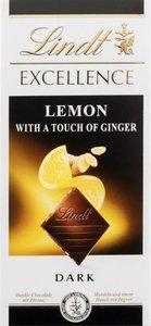 Шоколад горький с лимоном и имбирем ТМ Lindt (Линдт)