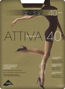 Колготки женские Omsa Attiva цвет: nero/черный, размер 5, 40 den