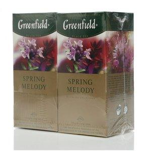 Чай черный 2*25*1,5г ТМ Greenfield (Гринфилд) spring melody с ароматом фруктов и душиcтых трав