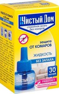 Жидкость от комаров Чистый дом 30 ночей, 29 мл