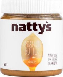 Паста арахисовая Crunchy хрустящая с кусочками арахиса и медом ТМ Natty's (Нутис)