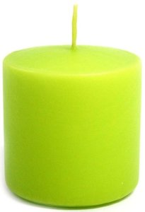 Свеча парафиновая Evis цилиндр салатовая, 60 мм