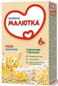 Каша молочная пшеничная с бананом ТМ Малышка с 6-ти месяцев