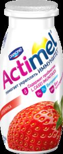 Кисломолочный продукт Actimel (Актимель) вкус клубники 2,6% ТМ Danone (Данон)