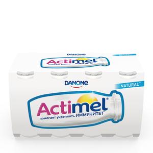 Напиток кисломолочный сладкий 2,5% ТМ Actimel (Актимель), 8*100 мл
