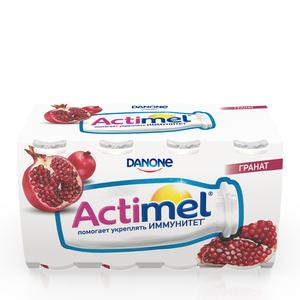 Напиток кисломолочный с соком граната 2,5% ТМ Actimel (Актимель), 8*100 мл