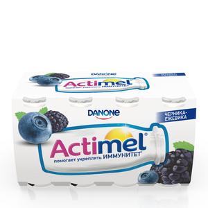 Напиток кисломолочный с черникой и ежевикой 2,5% ТМ Actimel (Актимель), 8*100 мл