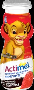Напиток кисломолочный Actimel клубника-банан 2,5% ТМ Danone (Данон)