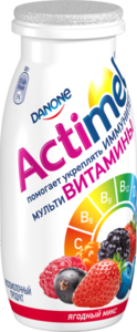 Напиток кисломолочный Actimel ягодный микс 2,5% ТМ Danone (Данон)