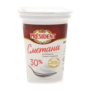 Сметана 30% ТМ President (Президент)
