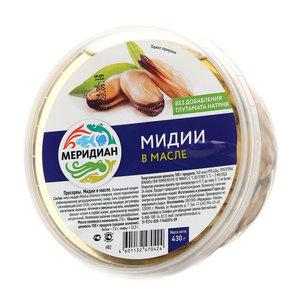 Мидии в масле ТМ Меридиан