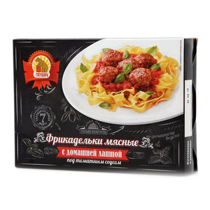 Фрикадельки мясные с домашней лапшой под томатным соусом ТМ Государь