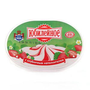 Мороженое Юбилейное ванильное с клубничным наполнителем ТМ Русский Холодъ
