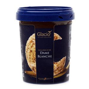 Мороженое пломбир ванильный с сиропом со вкусом шоколада ТМ Glacio (Глацио)