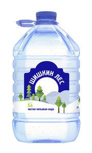Вода чистая питьевая негазированная ТМ Шишкин лес