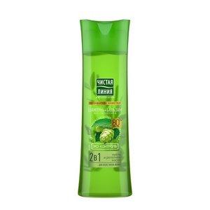 Шампунь и бальзам 2 в 1 для всех типов волос Хмель ТМ Чистая линия