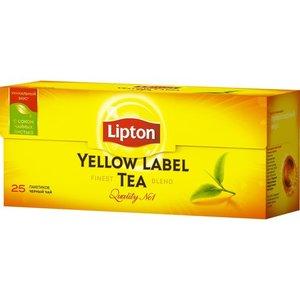 Чай черный в пакетиках Yellow Label (Йэллоу Лэйлб) 25*2 г ТМ Lipton (Липтон)