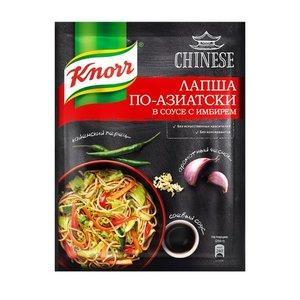 Приправа На второе Лапша по-азиатски в соусе с имбирем ТМ Knorr (Кнорр)