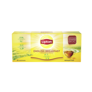 Чай черный в пакетиках English Breakfast (Инглиш Брекфаст) 25*2 г ТМ Lipton (Липтон)