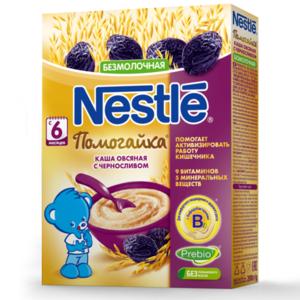 Каша овсяная безмолочная с черносливом Помогайка ТМ Nestle (Нестле)