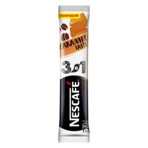 Кофе растворимый порционный 3в1 Caramel Taste (Карамель Тейст) ТМ Nescafe (Нескафе)