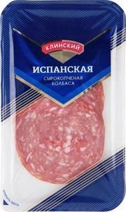 Колбаса сырокопченая Испанская полусухая ТМ Клинский