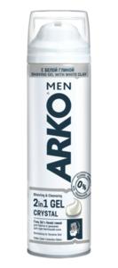 Гель для бритья и умывания 2 в 1 Men Crystal (Мен Кристал) с белой глиной ТМ Arko (Арко)