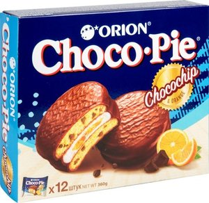 Бисквит Choco Pie Chocochip & Orange (Чоко Пай Чокочип & Орандж) ТМ Orion (Орион)