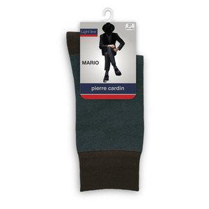 Носки мужские Mario (Марио) цвет коричневый/бирюзовый, размер 5 (45/47) ТМ Pierre Cardin (Пьер Карден)