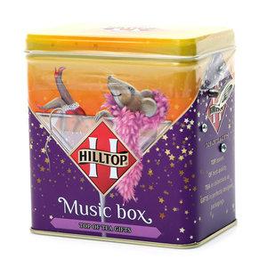 Чай черный байховый цейлонский Королевское золото музыкальная шкатулка Музыкальной зимний подарок ТМ Hilltop (Хилтоп)