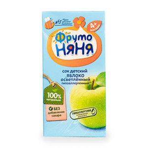 Сок яблочный осветленный с 4 месяцев ФрутоНяня 200 мл Россия