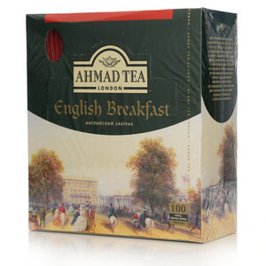 Чай чёрный в пакетиках-саше English Breakfast (Английский Завтрак) 100*2г ТМ Ahmad Tea (Ахмад Ти)