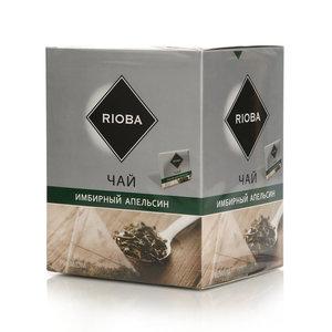 Чай зеленый Имбирный апельсин 20 пак. ТМ Rioba (Риоба)