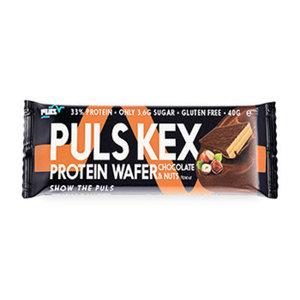 Вафли Puls КЕХ белковые Шоколад и Фундук, 40 г Словакия