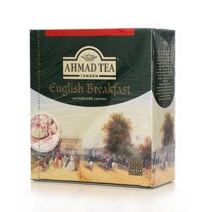 Чай чёрный пакетированный English Breakfast (Инглиш Брекфаст) 100*2г ТМ Ahmad Tea (Ахмад Ти)