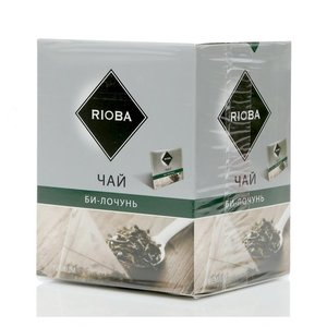 Чай зеленый ТМ Rioba (Риоба) крупнолистовой би-лочунь, 20 пакетиков