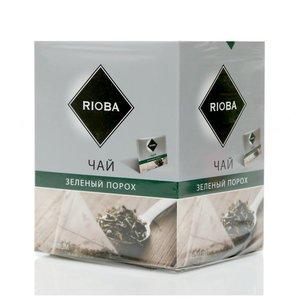 Чай зеленый ТМ Rioba (Риоба) зеленый порох, 20 пакетиков