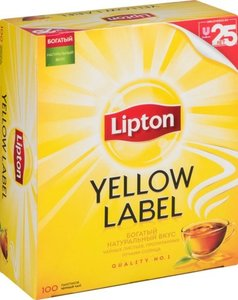 Чай черный в пакетиках Yellow Label (Йеллоу Лэйбл) 2 г*100 шт ТМ Lipton (Липтон)