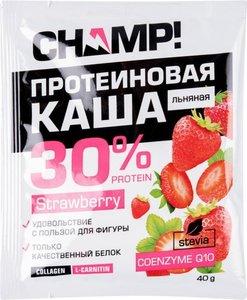 Каша льняная протеиновая Champ! 30% protein Strawberry, 40 г