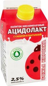 Ацидолакт Божья коровка с сахаром и лактулозой 2,5%, 450 г