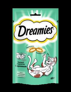 Лакомство для кошек подушечки с кроликом ТМ Dreamies (Дримс)